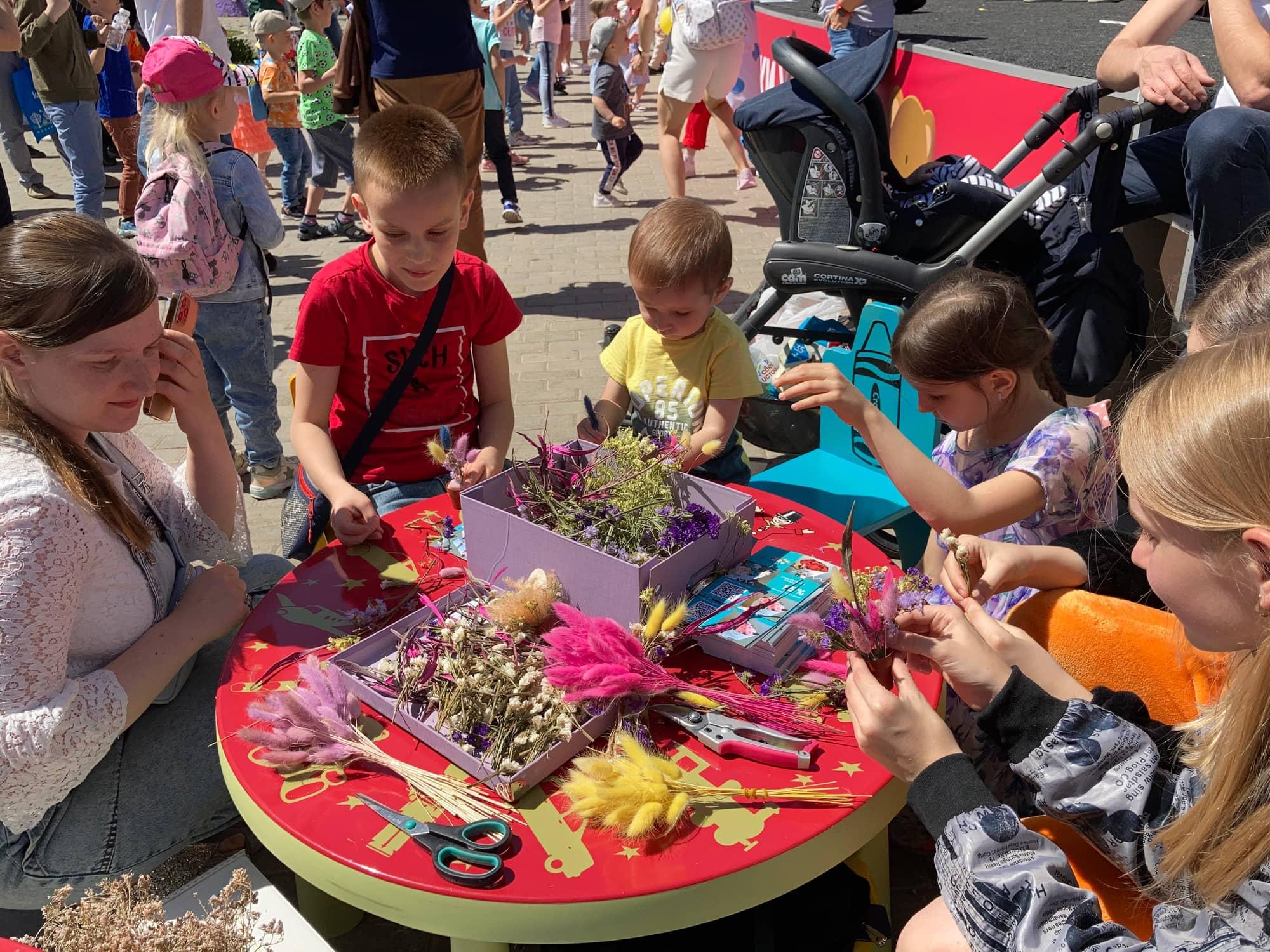 Мастер классы в парке аттракционов Сказка в Крылатском на праздновании дня рождения мишки Хемли