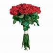 Букет из 35 красных роз высотой 60 см