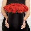 Шляпная коробка с красными розами, D 16 см