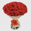Букет из 101 красной розы в упаковке с бантом