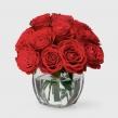 Букет из 19 алых роз высотой 40 см