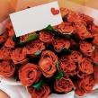 Букет из алых роз высотой 45 см
