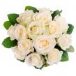 Букет из 13 белых роз Аваланш