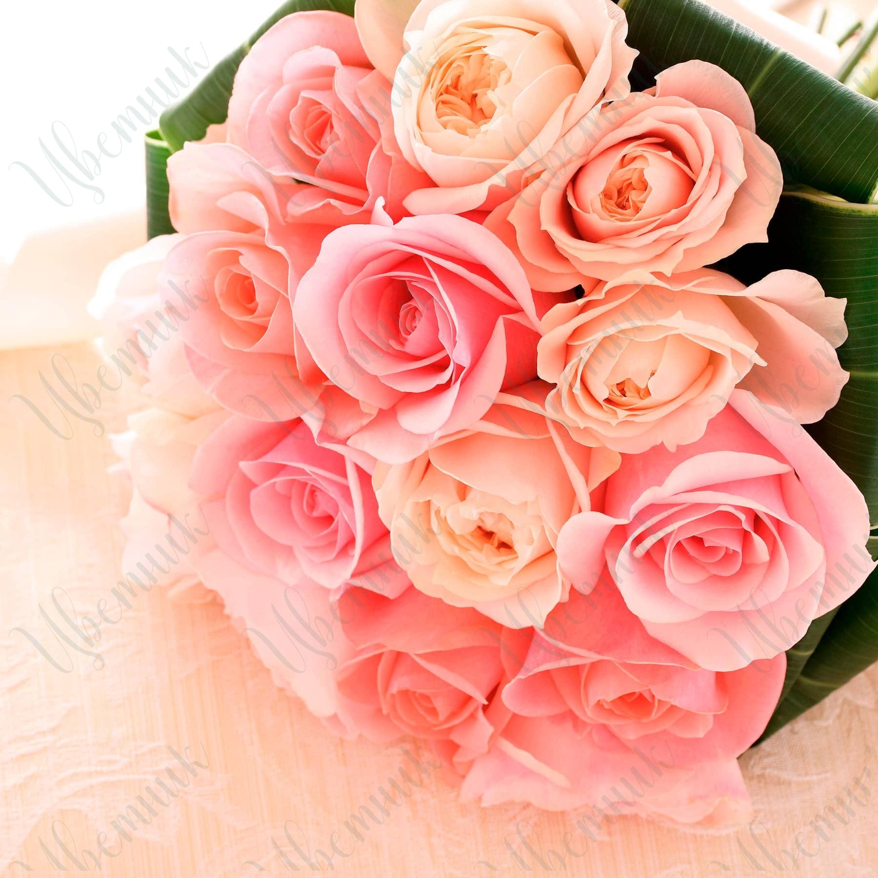 Букет-комплимент из нежных роз