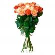 Букет из 19 роз в кораллово-кремовой гамме
