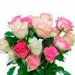 Букет ассорти розовых роз