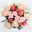 Букет из микс кустовых и одноголовых роз, высотой 50 см