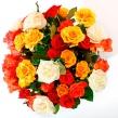 Букет-ассорти из ярких роз