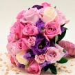 Букет невесты из микса сиреневых роз