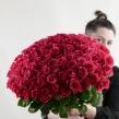 Букет «101 малиновая роза»